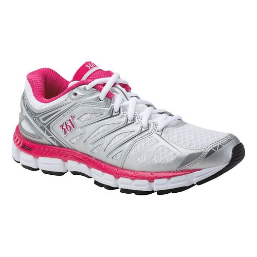 Womens 361 Degrees Sensation Running Shoe - Silver/White 10
