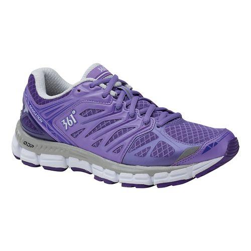 Womens 361 Degrees Sensation Running Shoe - Dahlia Purple/Heliot 10