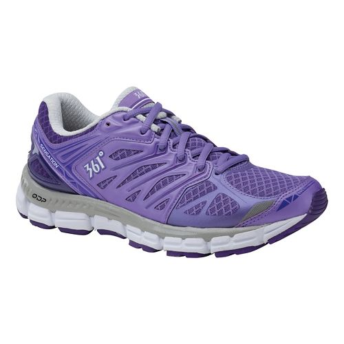 Womens 361 Degrees Sensation Running Shoe - Dahlia Purple/Heliot 9