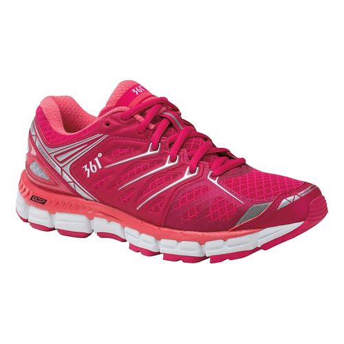 Womens 361 Degrees Sensation Running Shoe - Bright Rose/Pink 10