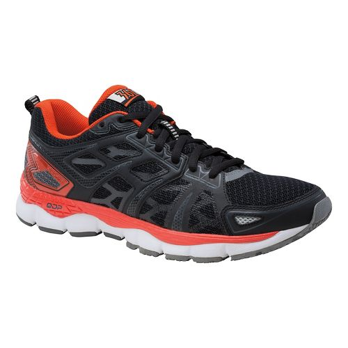 Mens 361 Degrees Omni-Fit Running Shoe - Black/Poppy 13