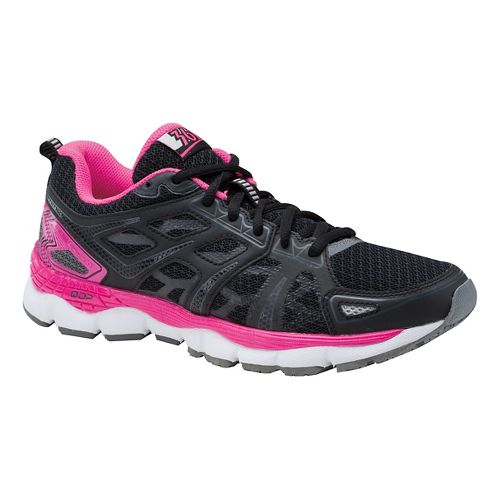Womens 361 Degrees Omni-Fit Running Shoe - Black/Neon Pink 6