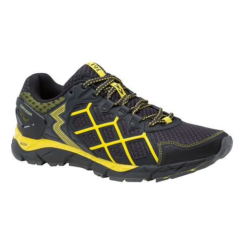 Mens 361 Degrees Ortega Trail Running Shoe - Dark Shadow/Yellow 10