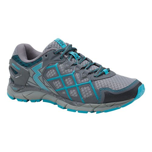 Womens 361 Degrees Ortega Trail Running Shoe - Grey/Peacock Blue 9.5