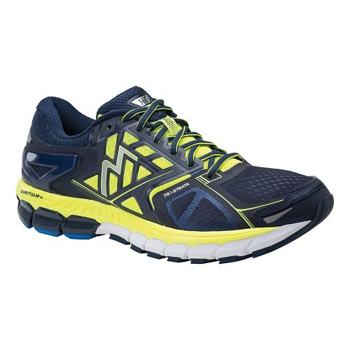 Mens 361 Degrees Strata Running Shoe - Midnight/Spark 10