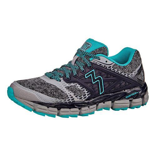 Womens 361 Degrees Santiago Trail Running Shoe - Sleet/Ebony 10.5