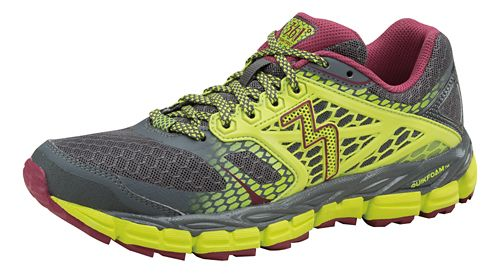 Womens 361 Degrees Santiago Trail Running Shoe - Castlerock/Limeaide 9.5