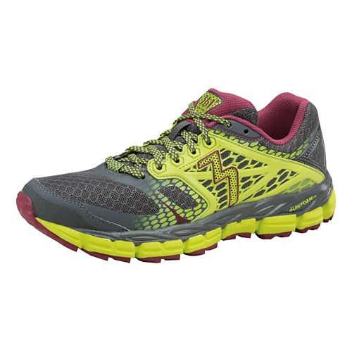 Womens 361 Degrees Santiago Trail Running Shoe - Castlerock/Limeaide 10.5