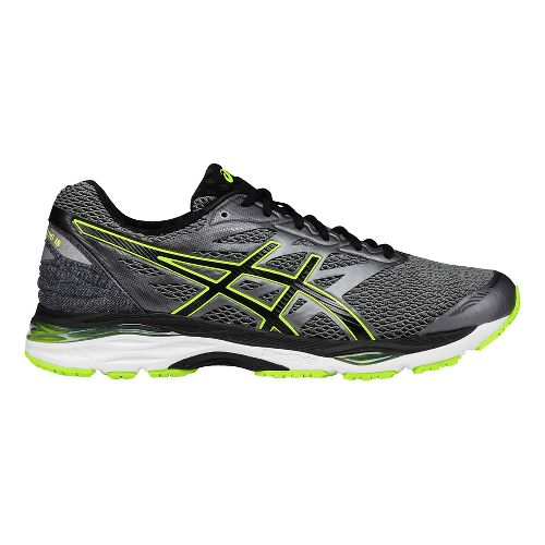 Mens ASICS GEL-Cumulus 18 Running Shoe - Black/Yellow 12