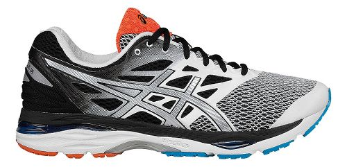 Mens ASICS GEL-Cumulus 18 Running Shoe - White/Black 8
