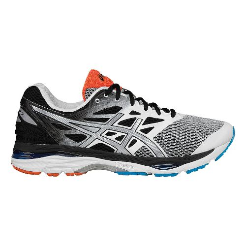 Mens ASICS GEL-Cumulus 18 Running Shoe - White/Black 12.5
