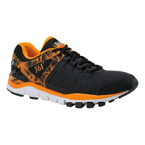 Mens 361 Degrees Soul Mate Cross Training Shoe - Black/Flame Orange 11.5