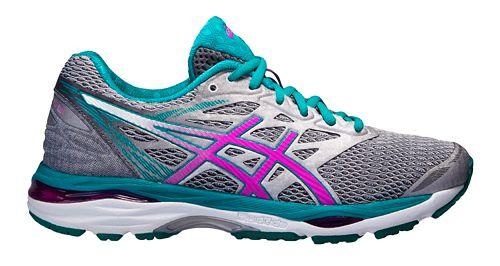 Womens ASICS GEL-Cumulus 18 Running Shoe - Silver/Pink 7