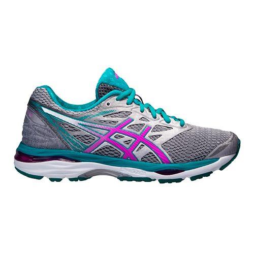 Womens ASICS GEL-Cumulus 18 Running Shoe - Silver/Pink 5