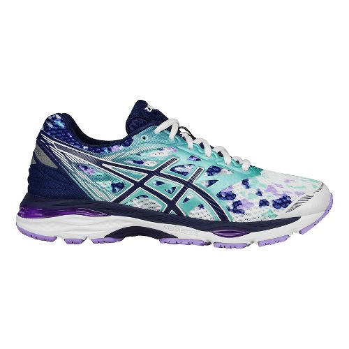 Womens ASICS GEL-Cumulus 18 Running Shoe - White/Blue 9.5