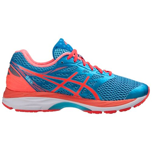 Womens ASICS GEL-Cumulus 18 Running Shoe - Aqua/Coral 7.5