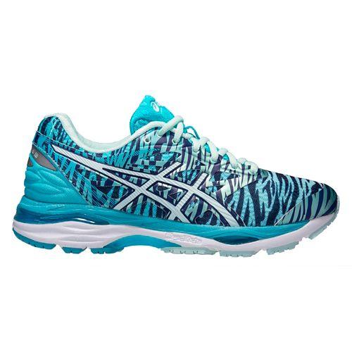 Womens ASICS GEL-Cumulus 18 Running Shoe - Aqua/Pink 12.5