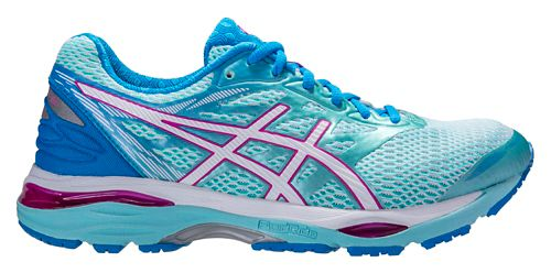 Womens ASICS GEL-Cumulus 18 Running Shoe - Aqua/Pink 6.5