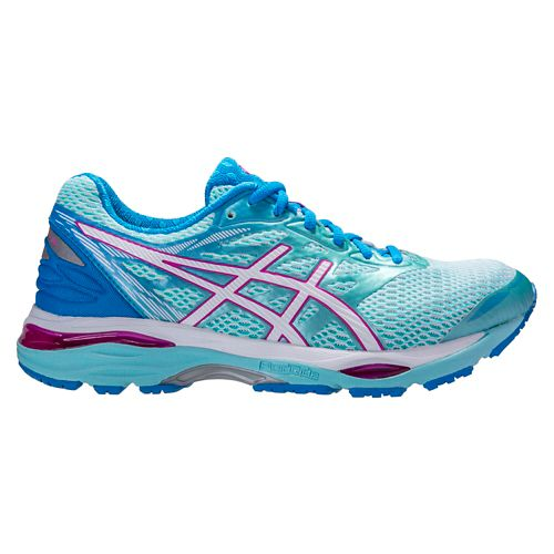 Womens ASICS GEL-Cumulus 18 Running Shoe - Aqua/Pink 10.5