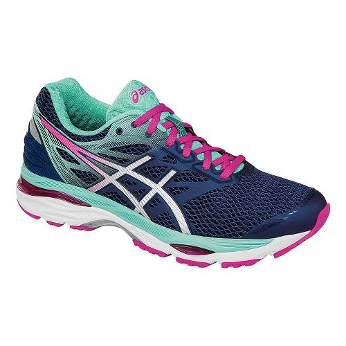 Womens ASICS GEL-Cumulus 18 Running Shoe - Navy/Pink 7.5