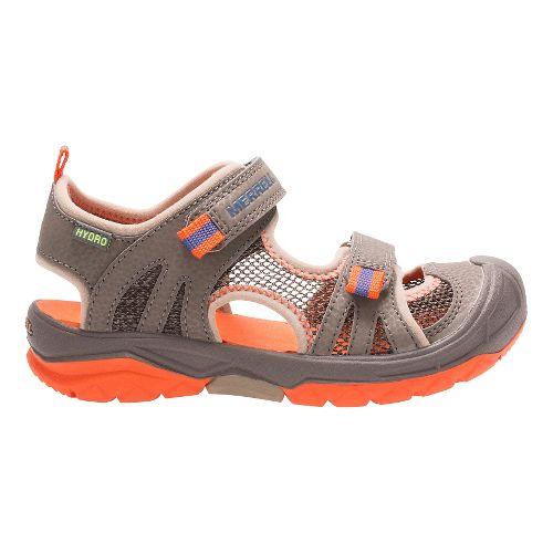 Kids Merrell Hydro Rapid Sandals Shoe - Gunsmoke/Orange 1Y