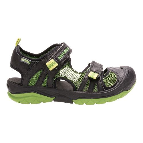 Kids Merrell Hydro Rapid Sandals Shoe - Black/Green 7Y