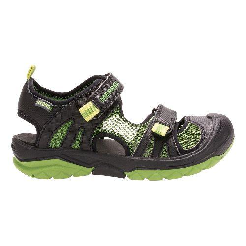 Kids Merrell Hydro Rapid Sandals Shoe - Black/Green 9C