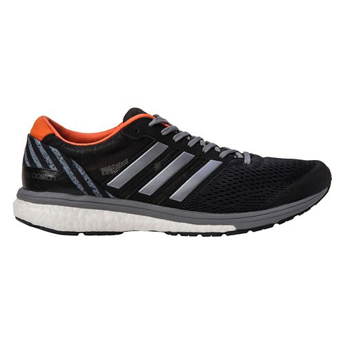 Mens adidas Adizero Boston 6 Running Shoe - Black/Red 10.5