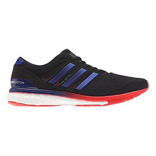 Mens adidas Adizero Boston 6 Running Shoe - Black/Purple 10.5