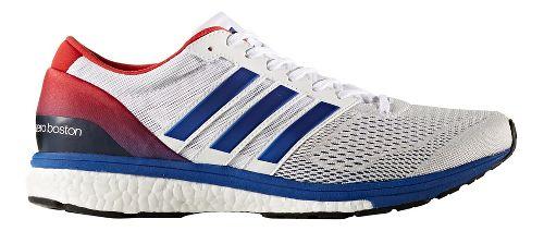 Mens adidas Adizero Boston 6 Running Shoe - White/Blue 10