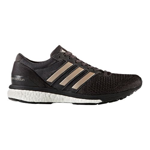 Womens adidas Adizero Boston 6 Running Shoe - Black/Platinum 10.5