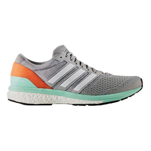 Womens adidas Adizero Boston 6 Running Shoe - Grey/Orange 9.5
