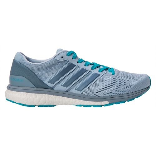 Womens adidas Adizero Boston 6 Running Shoe - Grey/Blue 8.5