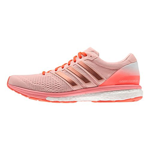 Womens adidas Adizero Boston 6 Running Shoe - Vapour Pink/Red 9.5