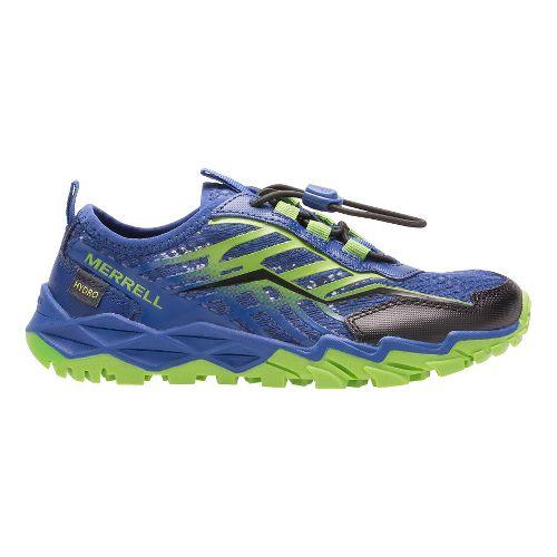 Kids Merrell Hydro Run Running Shoe - Blue/Green 2.5Y