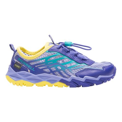 Kids Merrell Hydro Run Running Shoe - Blue/Turq/Yellow 3.5Y