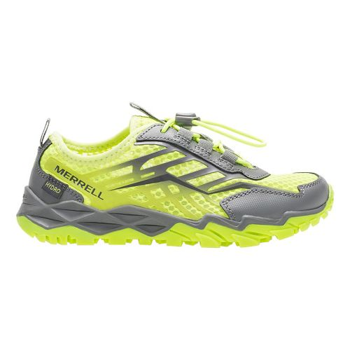 Kids Merrell Hydro Run Running Shoe - Citron/Grey 3.5Y