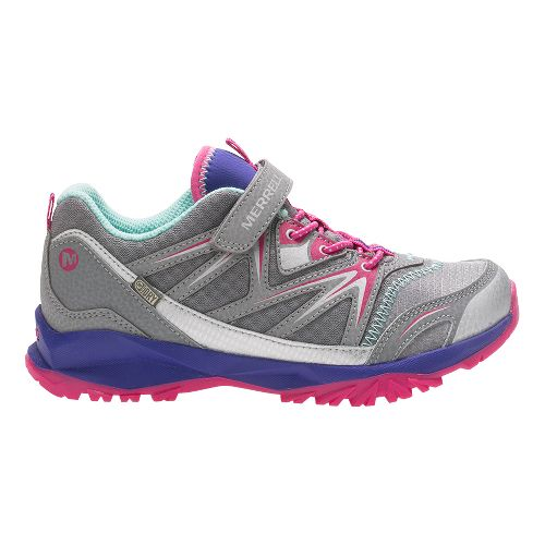 Merrell Capra Bolt Low A/C Waterproof Running Shoe - Grey/Multi 1.5Y