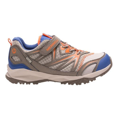 Kids Merrell Capra Bolt Low A/C Waterproof Running Shoe - Gunsmoke/Orange 6Y