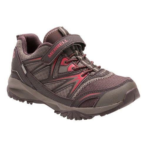 Kids Merrell Capra Bolt Low A/C Waterproof Running Shoe - Brown 3.5Y