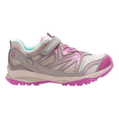 Kids Merrell Capra Bolt Low A/C Waterproof Running Shoe - Taupe/Berry 3.5Y