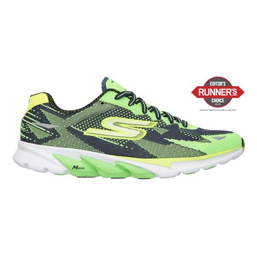Mens Skechers GO Run 4  Running Shoe - Green/Navy 9.5
