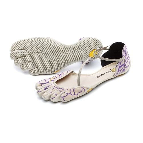 Womens Vibram FiveFingers Vi-S Casual Shoe - Beige/Purple 37