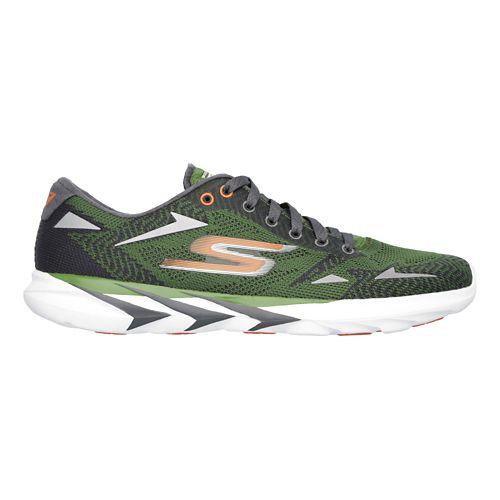 Mens Skechers GO MEB Speed 3  Running Shoe - Green/Orange 9.5