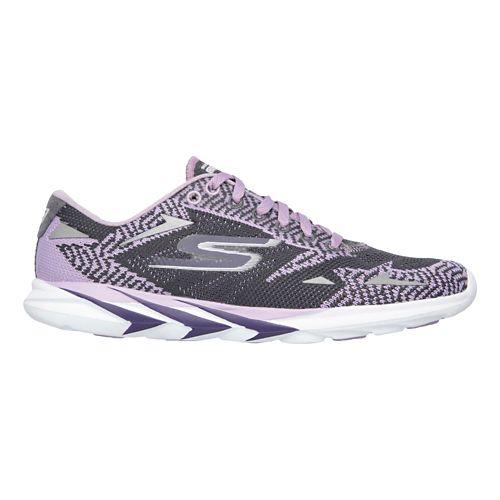 Womens Skechers GO MEB Speed 3  Running Shoe - Purple/Charcoal 6