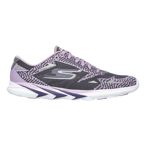 Womens Skechers GO MEB Speed 3  Running Shoe - Purple/Charcoal 9.5
