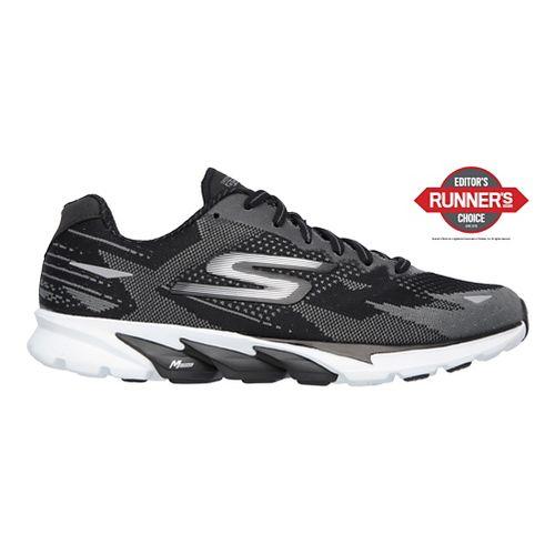 Womens Skechers GO Run 4  Running Shoe - Black/White 11