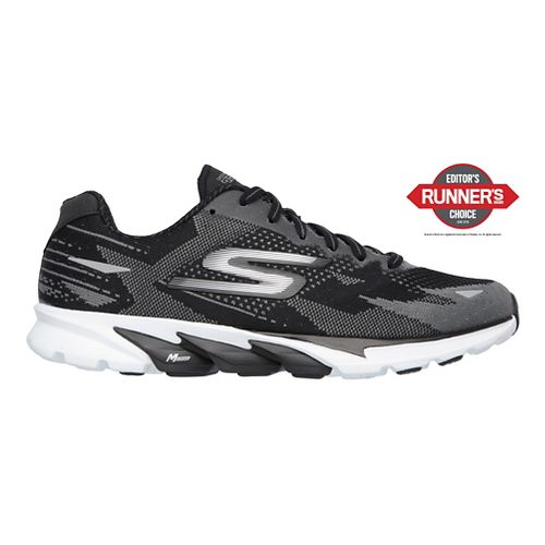 Womens Skechers GO Run 4  Running Shoe - Black/White 7.5
