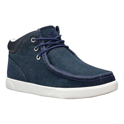 Mens Timberland Groveton Moc Toe Chukka Fabric Casual Shoe - Blue Denim 11.5