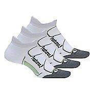 Feetures Elite Max Cushion No Show Tab 3 Pack Socks - White M